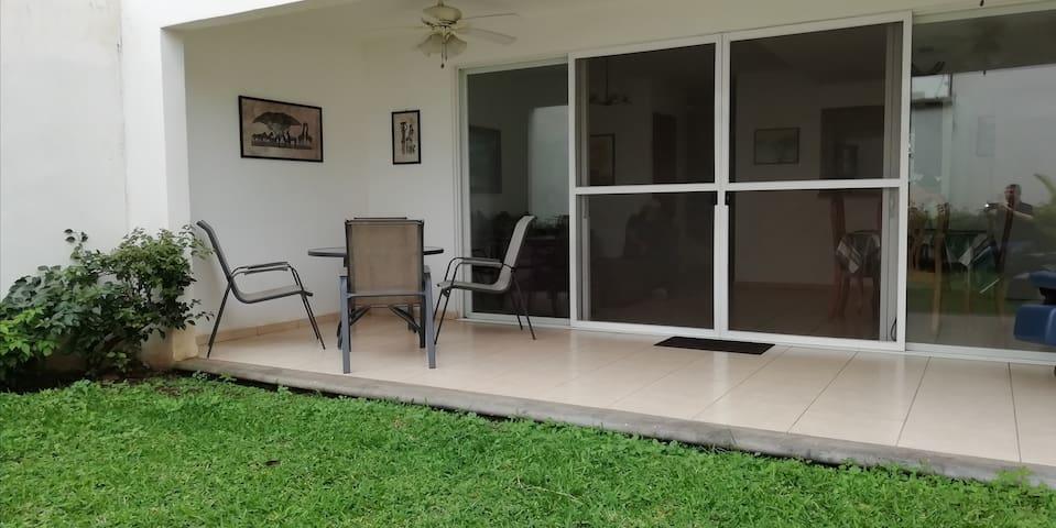 Terrace and backyard