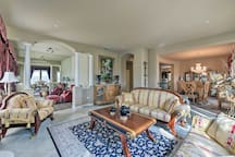 Regal furnishings adorn the space.