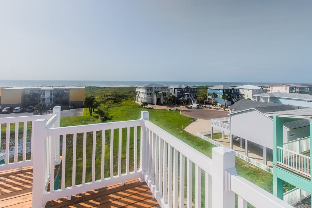 Enjoy the sights and sounds of the ocean from the comfort of our deck.