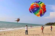 Water sport on beach