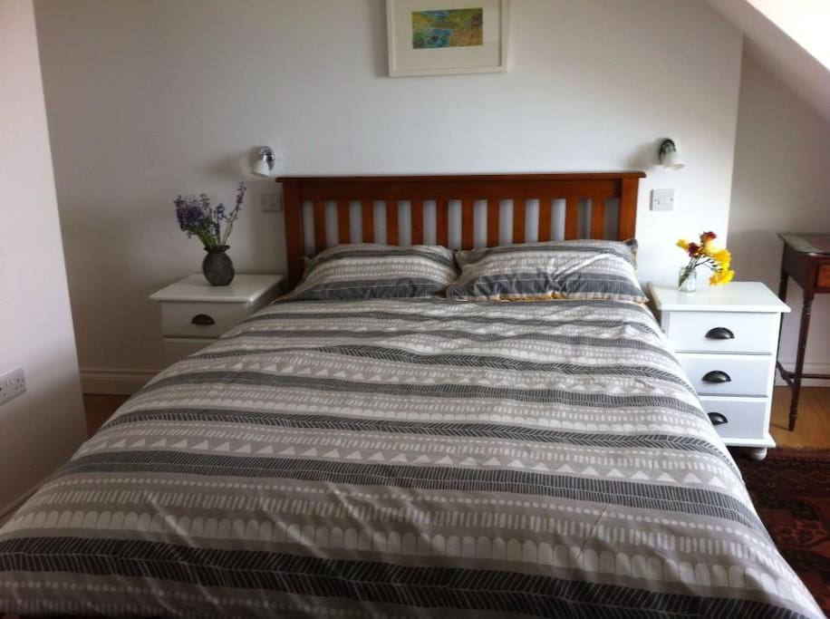 Comfortable en suite bedroom. There is a folding third guest bed available if required