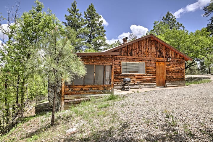 2BR Ruidoso Cabin Surrounded by Wildlife!