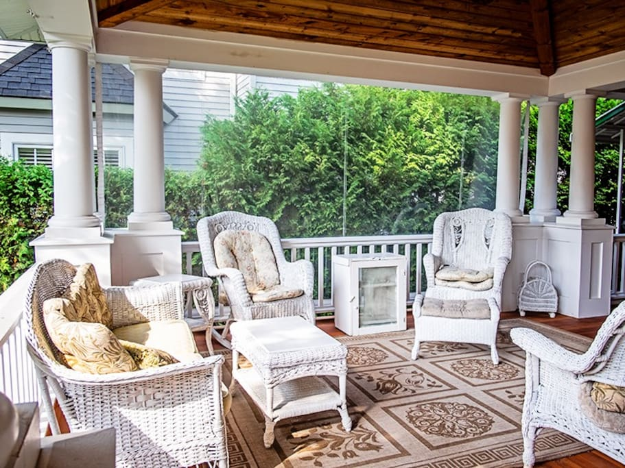 Great Seating Area on Front Porch