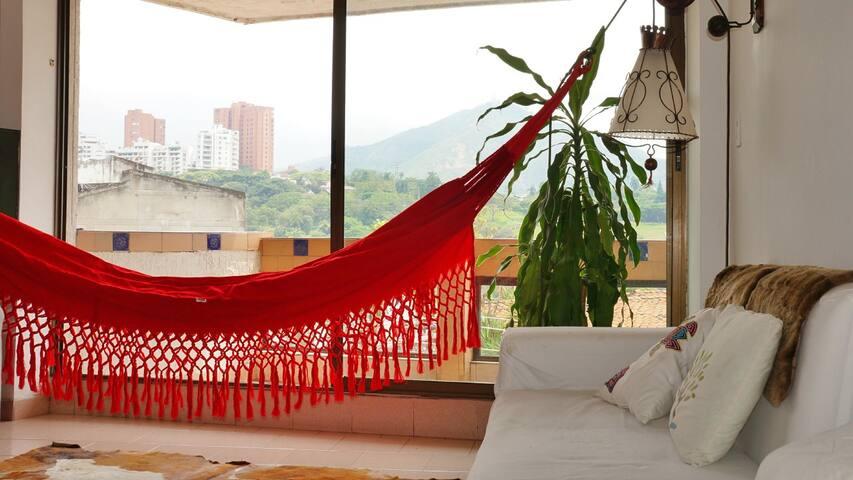 Sala de estar para conversar, leer o descansar