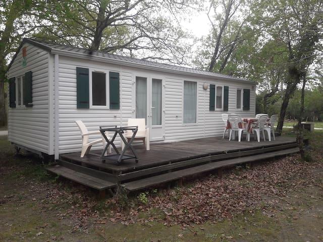Mobile-Home 6 places sur propriété boisée