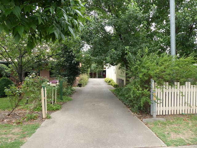 Driveway into apartment