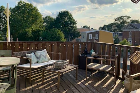 Studio 1: Deck Oasis + Parks + Philly Convenience