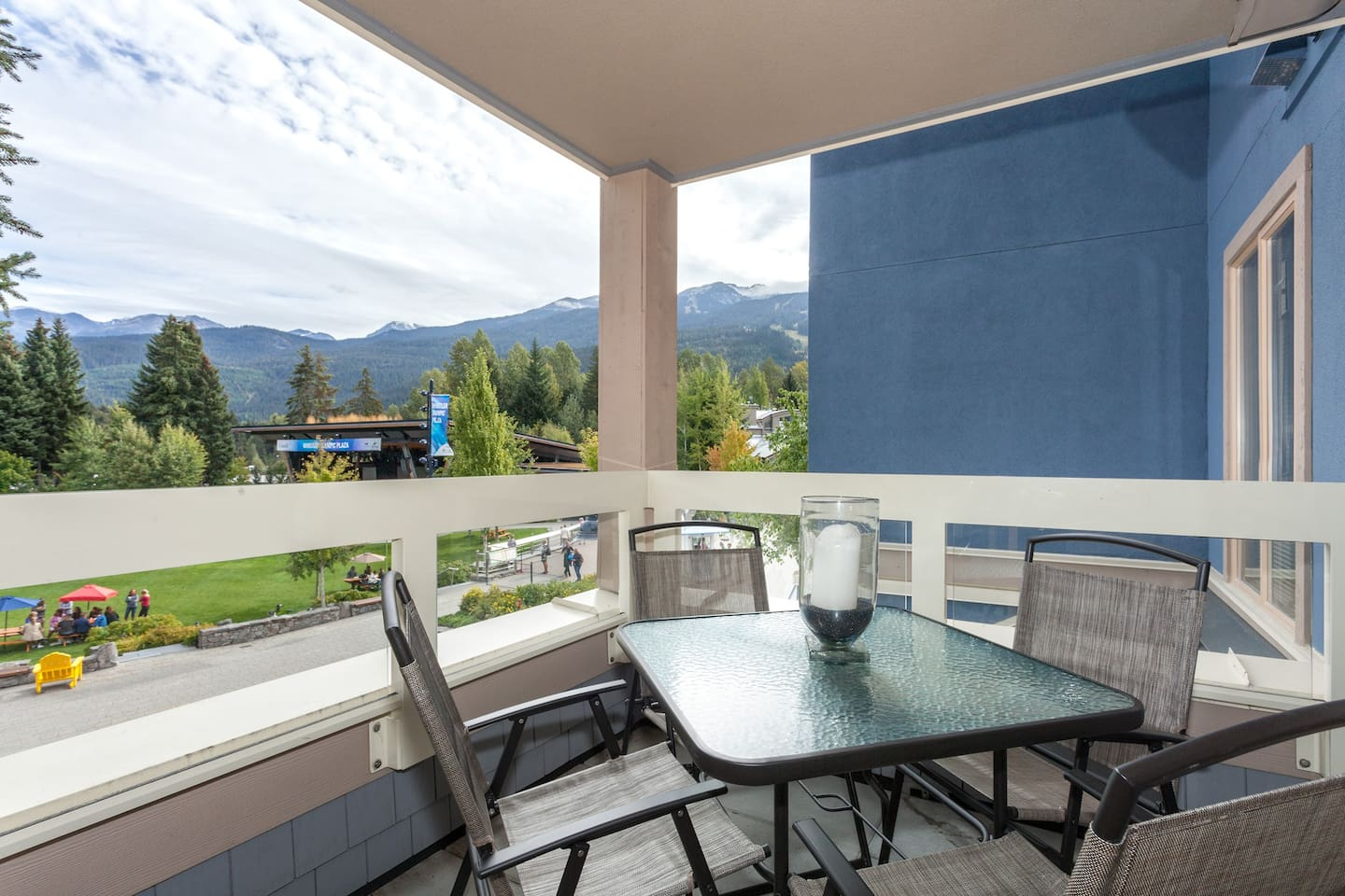 Enjoy the Summer Concert Series on your own private balcony seats overlooking the Whistler Olympic Plaza.