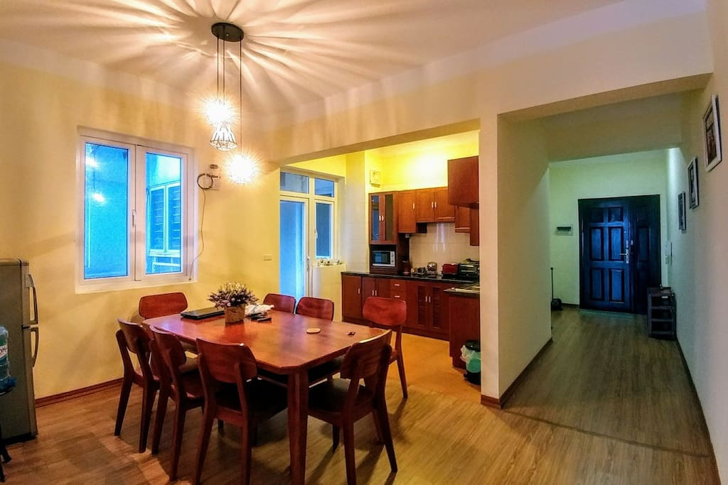 Kitchen and Dining Space, mainly Workspace and Refueling Center