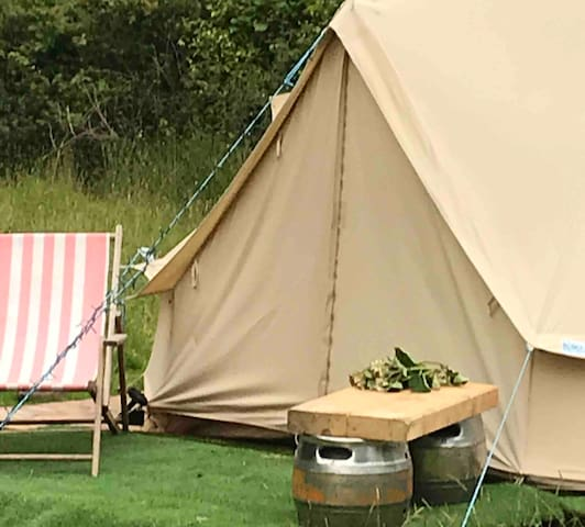 Wild camping/Glamping 5 m bell tent   Off grid ,