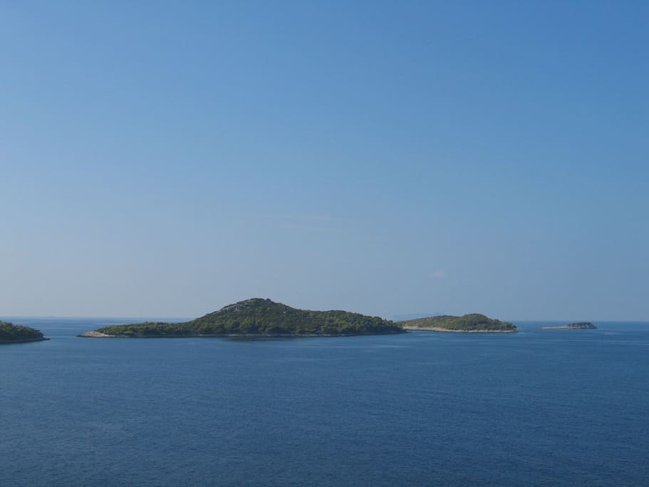 Fantastic view of the nearby islands from our balcony.