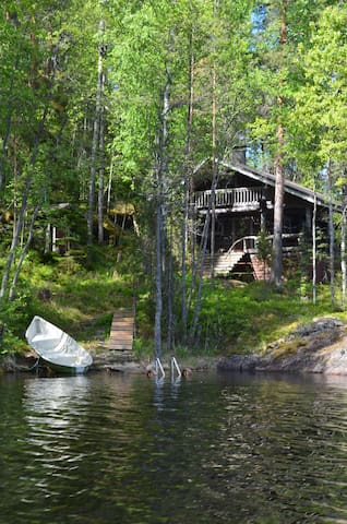 HIGH-QUALITY AND COMFORTABLE LAKESIDE COTTAGES. - Rantasalmi - Mökki
