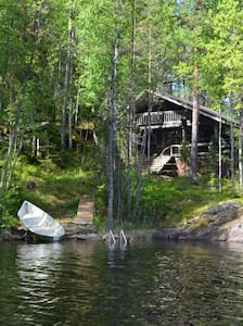HIGH-QUALITY AND COMFORTABLE LAKESIDE COTTAGES. - Rantasalmi - Cabin