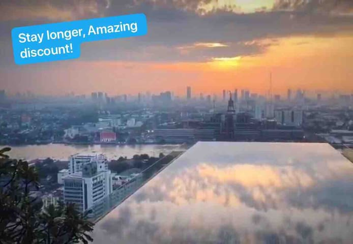 Sky pool ,top view of BBK,near Don Mueang airport.