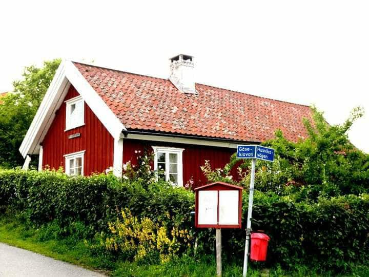 Wooden cottage at Brännö,  just outside Göteborg