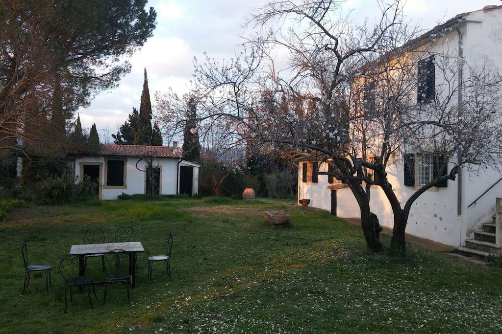 giardino del podere Vignagrande dove si trova il Casale Forno