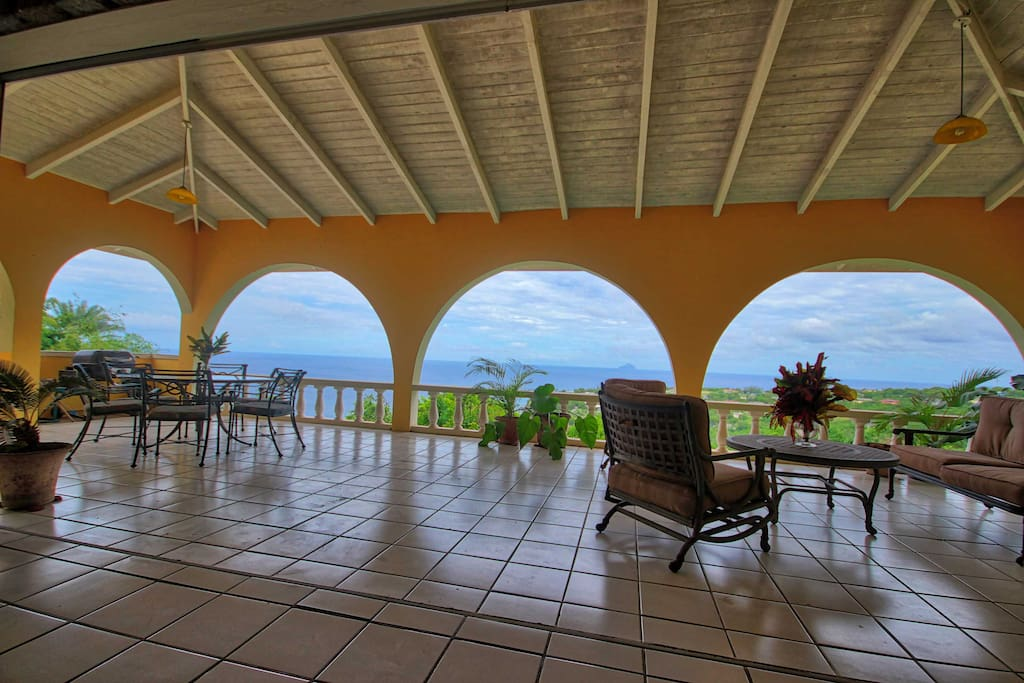 Ocean view from the living room/lounge area.