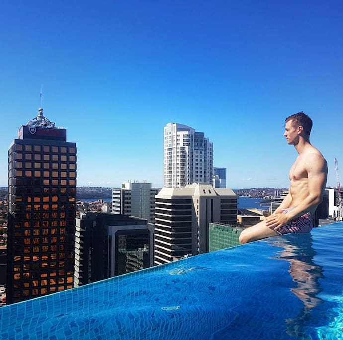 The one and only roof top Swimming pool in North Sydney