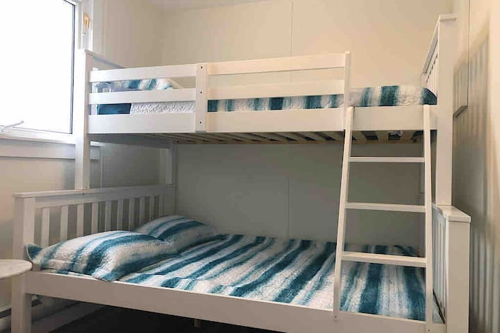 Bedroom 2 with Double Bed on the bottom and Single Bed on the Top