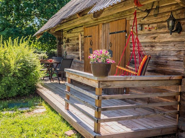 Sauna house with terrace