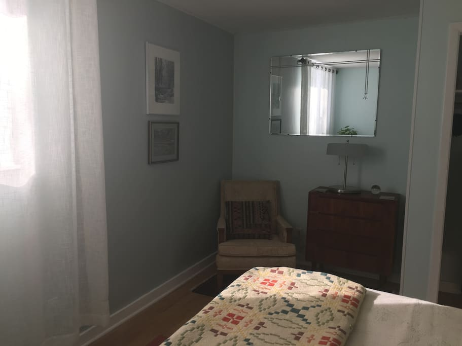 A private little reading nook in the bedroom