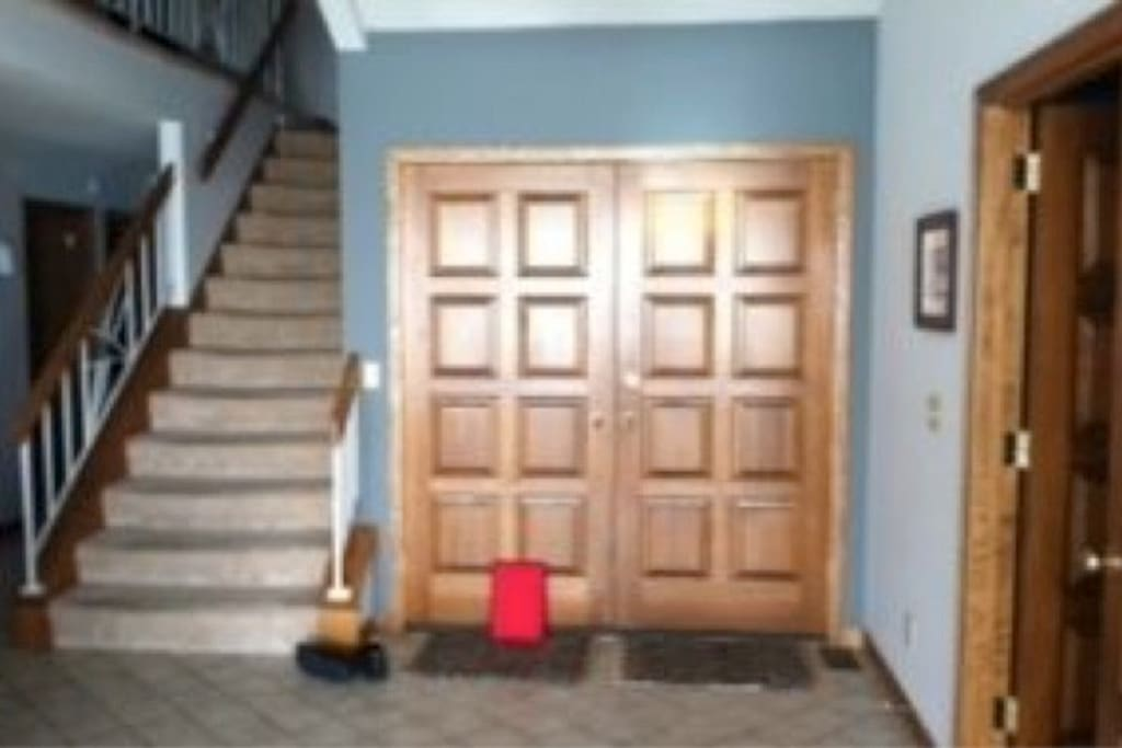 front entrance and stairs to 2 bed/2 bath loft
