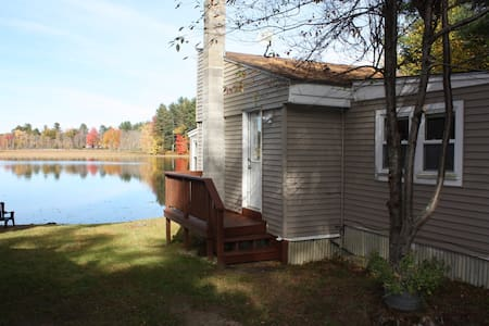 Cozy one bedroom cottage with loft. - West Gardiner - Srub