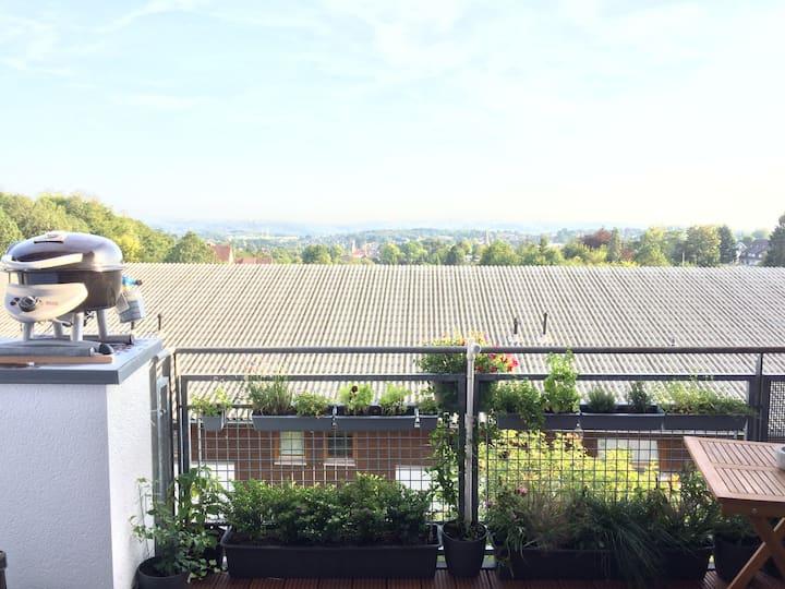 Tolle Dachgeschoss Wohnung Weitblick & hohe Decken