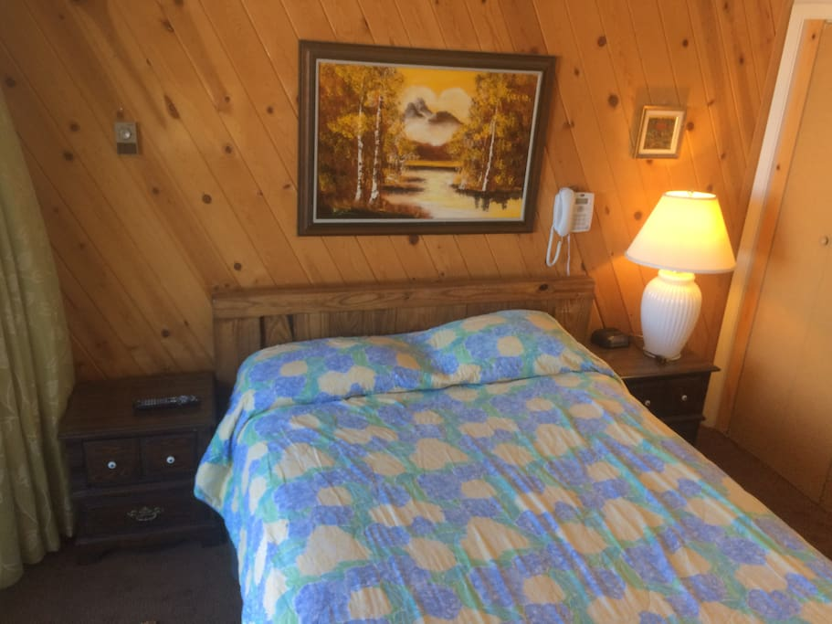 """Master Bedroom with LG 43"""" Smart TV and Boom box, clock Radio, Phone, WIFI, closet and direct balcony access"""