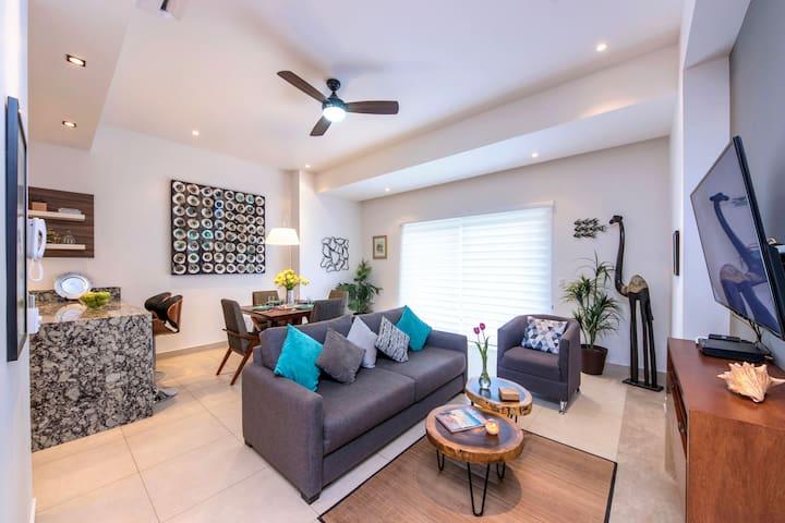Living area, sitting area