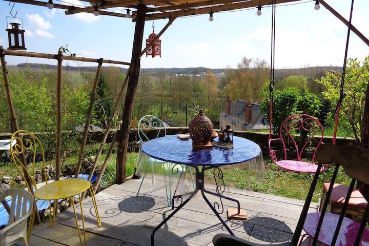 charmante maison tourangelle avec vue panoramique - Chançay - Byhus