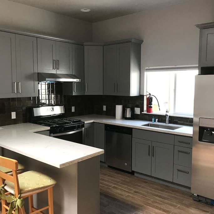 Newly furnished and remodeled kitchen.