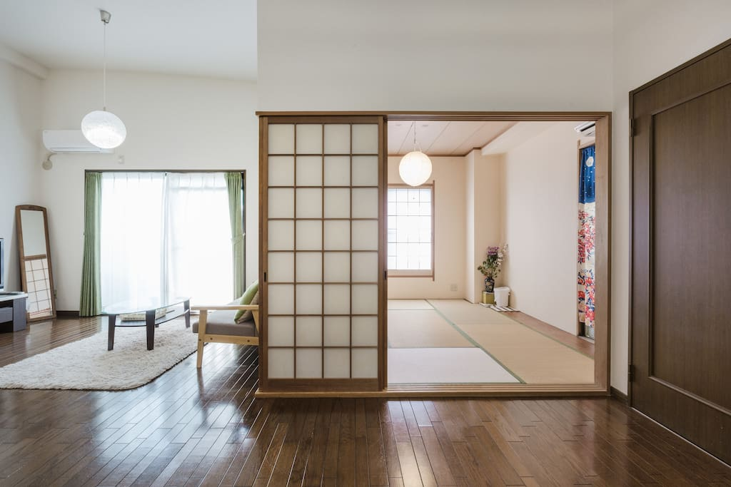 With cozy tatami room