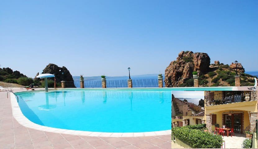 Sardinia lovely villa with 4 beds, pool, wi.fi