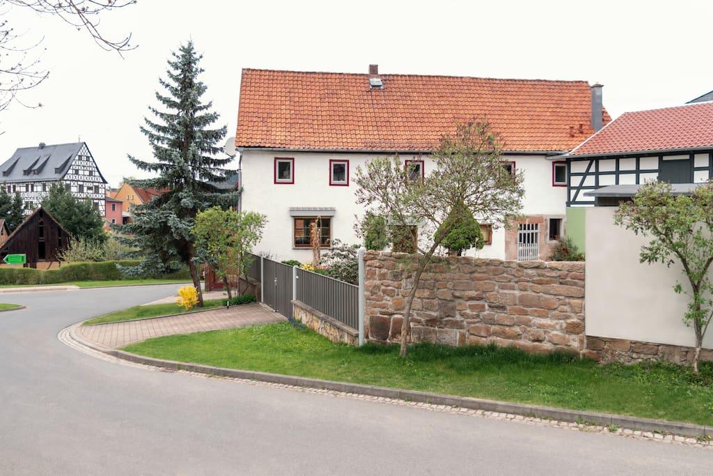 Blick in Richtung Gasthof Edelhof
