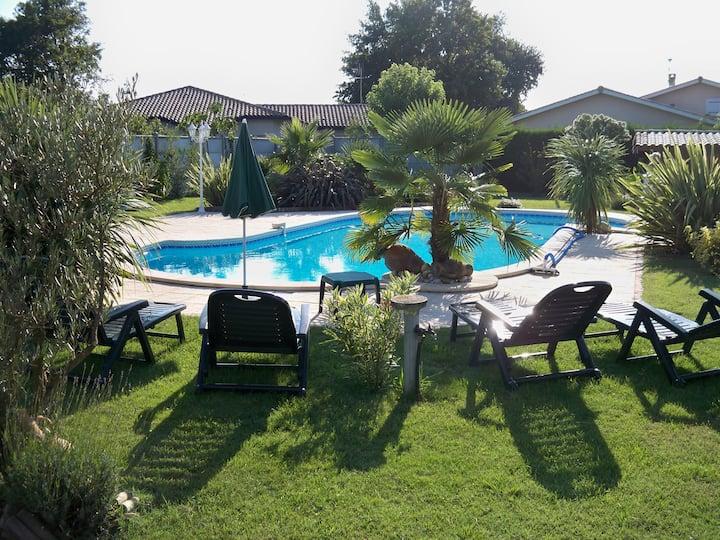Maison 2 pièces avec piscine Sud Bassin d'Arcachon