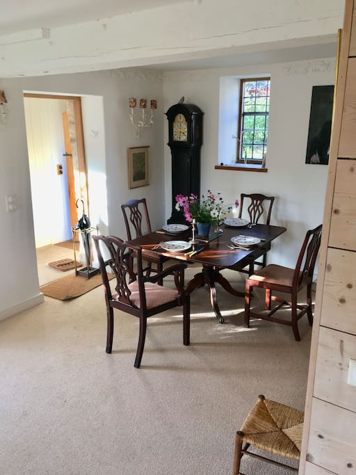 Dining room end- looking into kitchen and entrance door