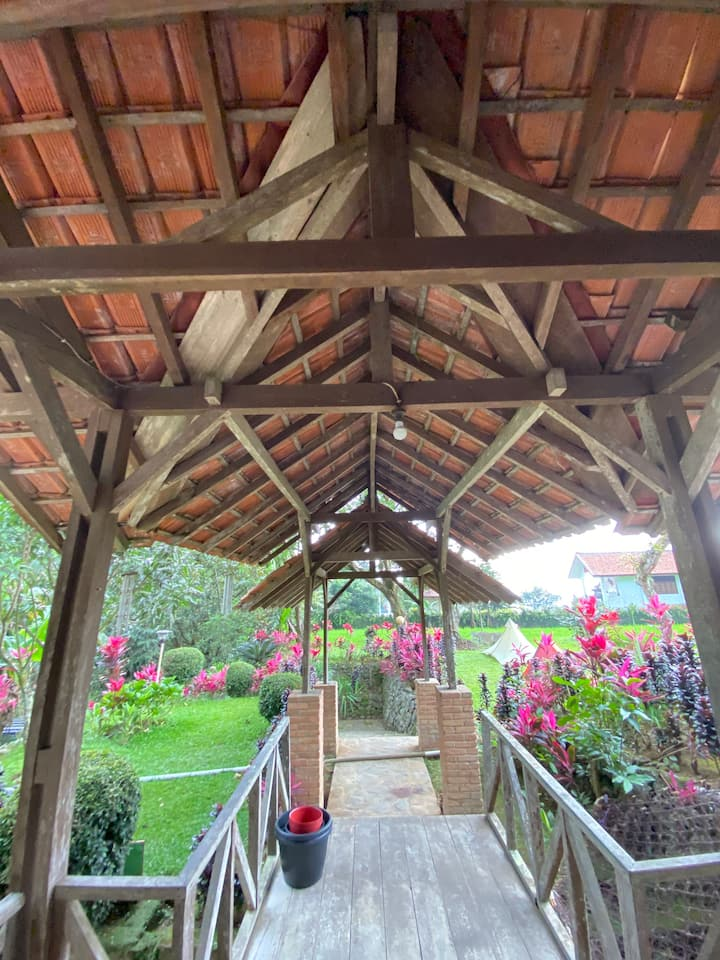 Wooden House Village View in Cidahu, Sukabumi