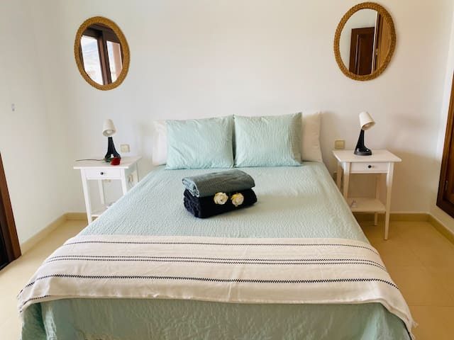 upstairs bedroom double bed with ensuite bathroom