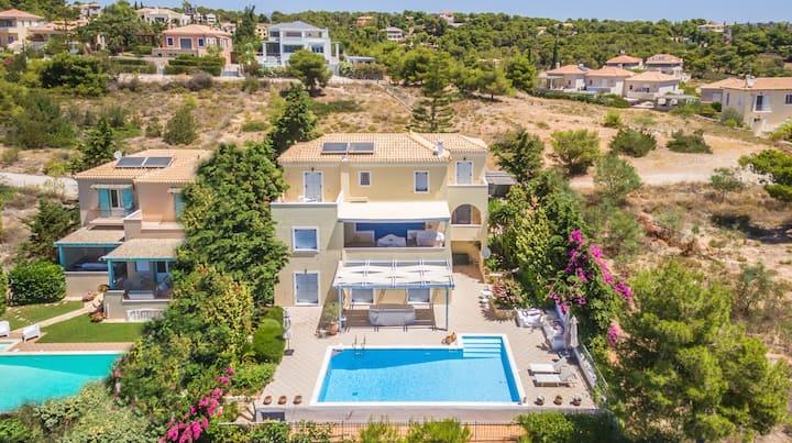 Villa Mneme with private pool in Costa, Porto Heli