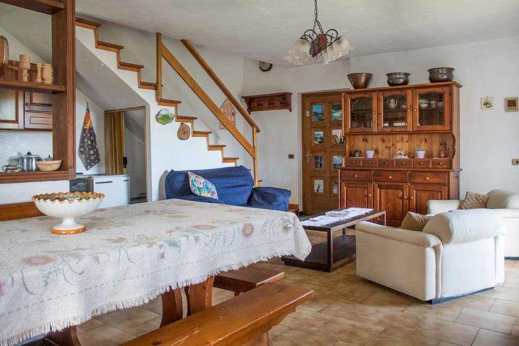 La scala che ci porta alle camere da letto....