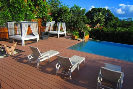 P'TITE ANSE Villa pour 2p - spa privé, Piscine. - Vieux Habitants