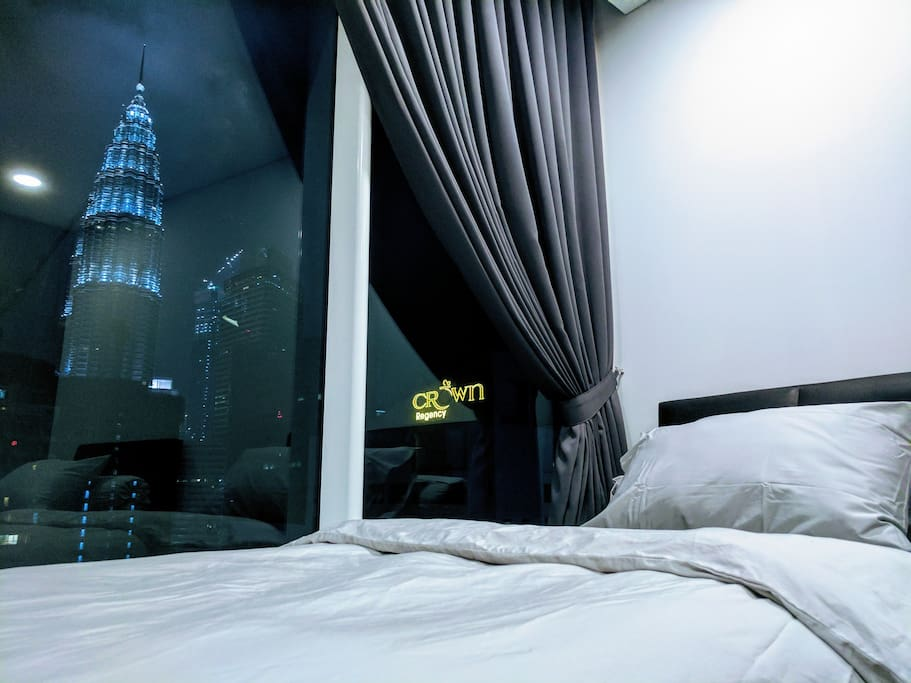 Waking up to a spectacular KLCC view
