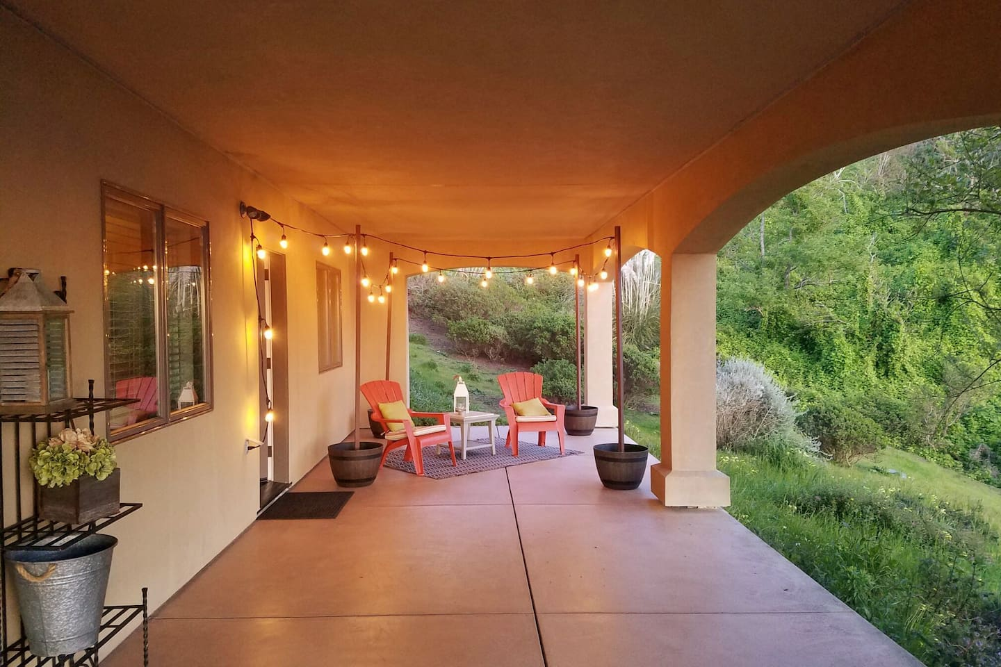 Total privacy for you.  Watch the sunset over the pacific right here!