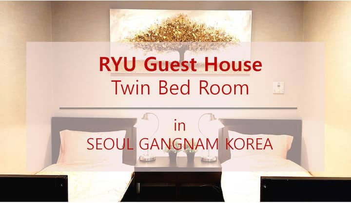 Stardard Twin Bed Room in Gangnam Apgujeong Seoul