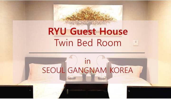 Stardard Twin Bed Room in Gangnam Apgujeong Seoul