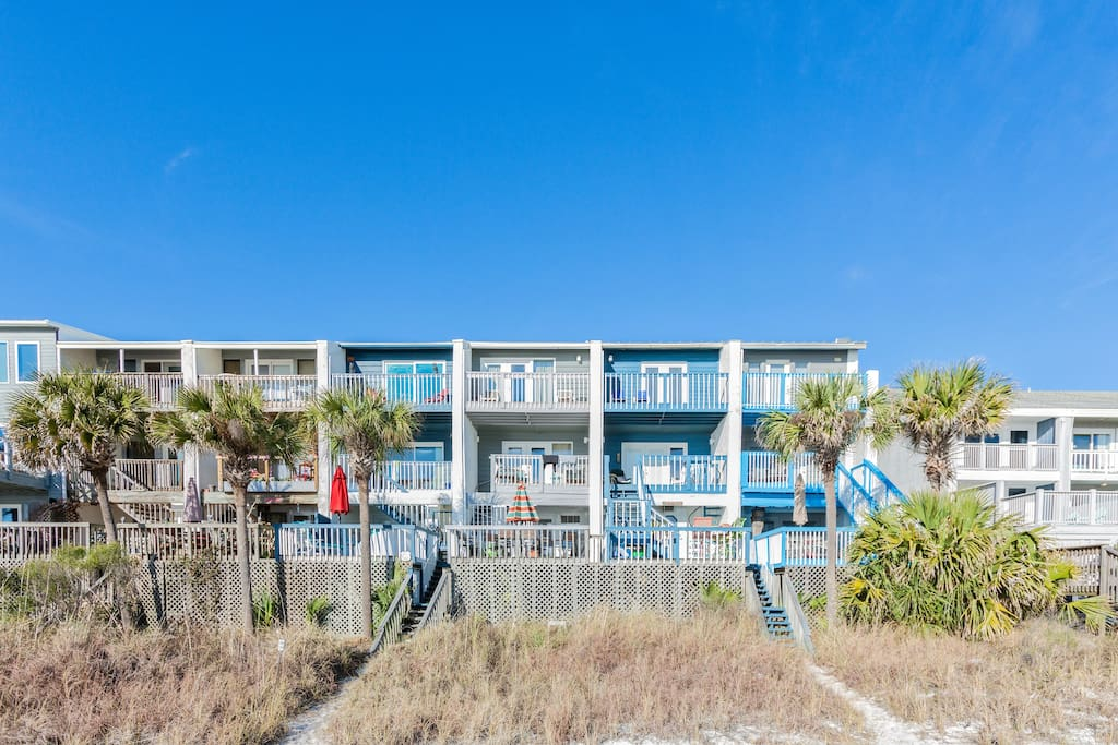 View of Town homes from the beach