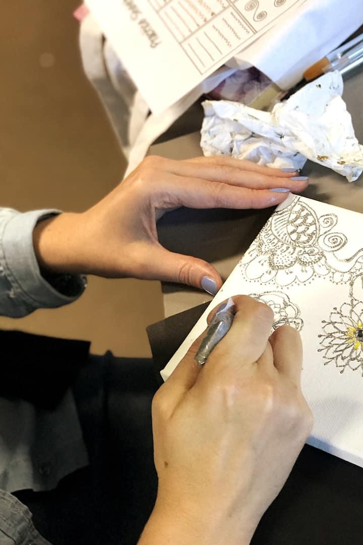 Henna canvas painting