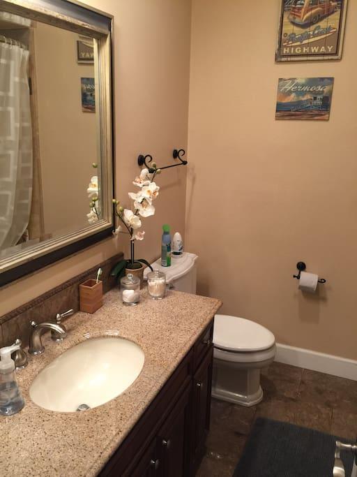 Shared bathroom on top floor