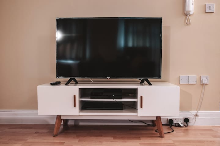 TV with Netflix, Amazon Prime and PS4